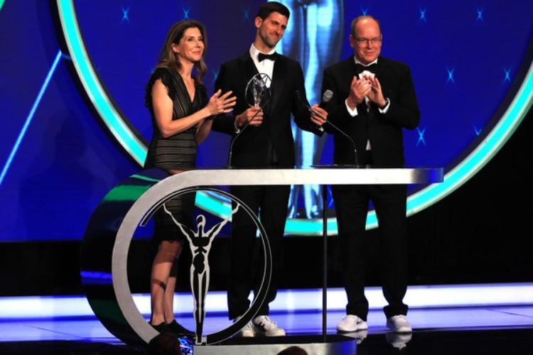 sportski oskar laureus nagrade monako 2019 novak djokovic cetvrti put najbolji sportista sveta planete monika seles dodela princ albert od monaka