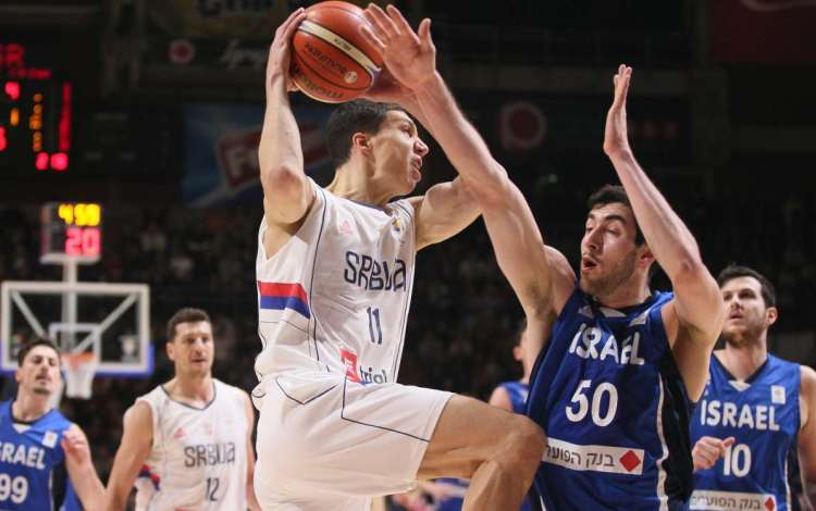 kvalifikacije za svetsko prvenstvo za kosarkase srbija izrael 97 76 beograd pionir vladimir lucic