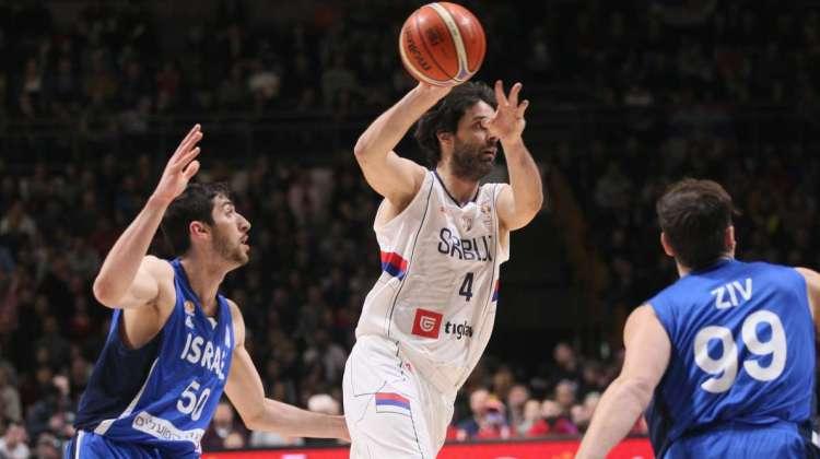 kvalifikacije za svetsko prvenstvo za kosarkase srbija izrael 97 76 beograd pionir kapiten milos teodosic