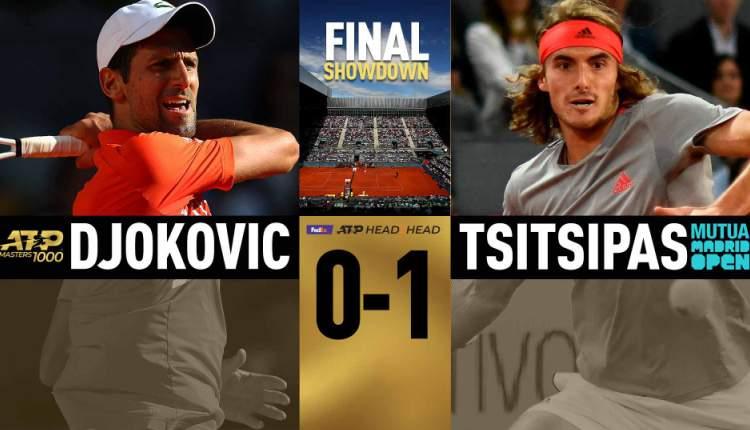 Novak Đoković Stefanos Cicipas finale ATP Masters 1000 turnira u Madridu šljaka