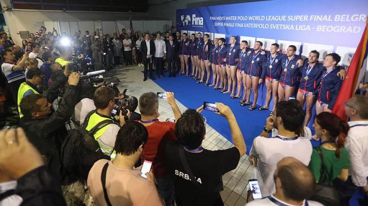 finale svetske lige vaterpolo beograd 2019 srbija hrvatska 12-11 pobednicko postolje