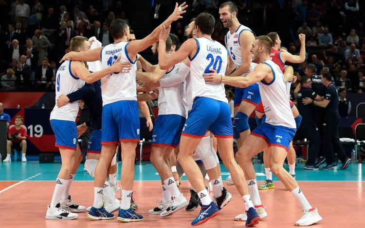 srbija francuska 3-2 polufinale evropskog prvenstva za odbojkase finale sa slovencima