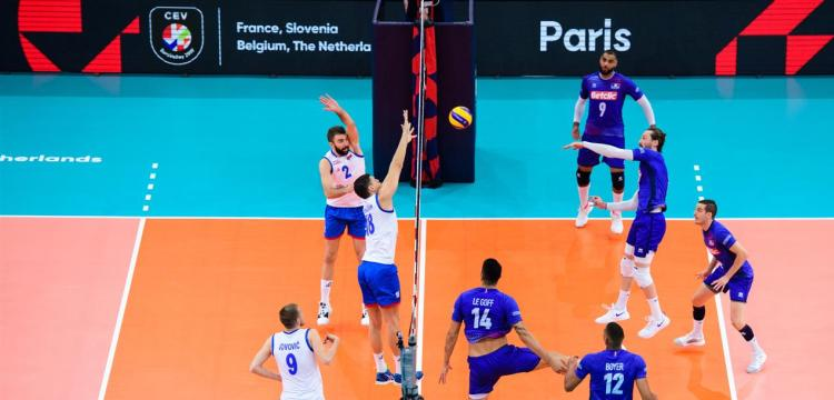 srbija francuska 3-2 polufinale evropskog prvenstva za odbojkase finale sa slovencima blok marko podrascanin