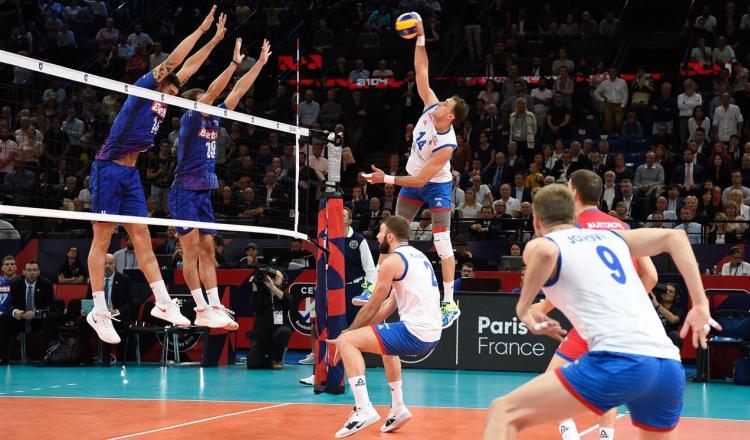 srbija francuska 3-2 polufinale evropskog prvenstva za odbojkase finale sa slovencima korektor aleksandar atanasijevic