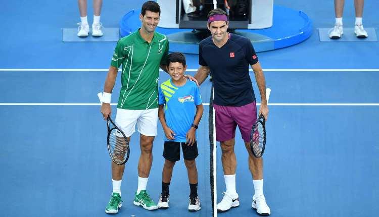 novak djokovic rodzer federer  polufinale australijen opena u tenisu 3-0 u setovima