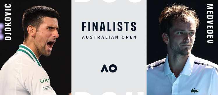 novak djokovic danil medvedev finale australijen open melburn 2021