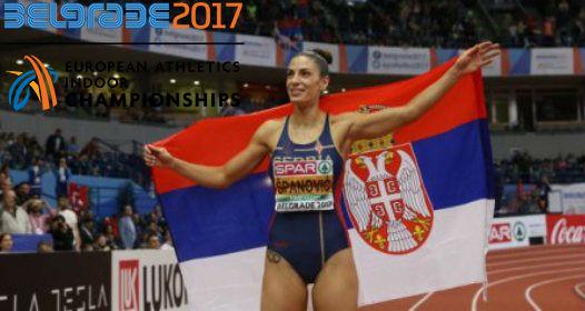 ZAVRŠENO DVORANSKO ATLETSKO EP U BEOGRADU: Ivana Španović superiorno do zlata, zamalo svetski rekord