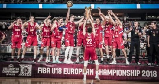 ZAVRŠENO EVROPSKO PRVENSTVO U KOŠARCI ZA OMLADINCE LETONIJA 2018: Srbija odbranila tron, Marko Pecarski MVP šampionata
