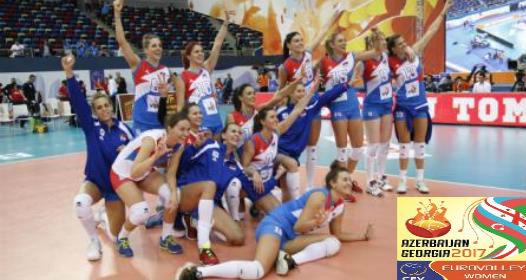 EVROPSKO PRVENSTVO ZA ODBOJKAŠICE U AZERBEJDŽANU I GRUZIJI: Srbija lagano do polufinala, slab otpor Belorusije