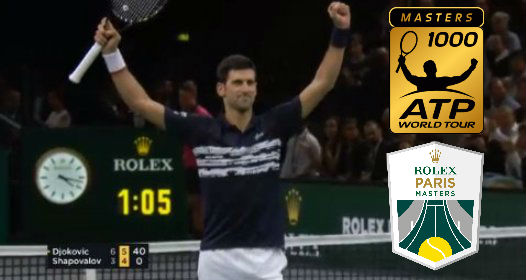 ZAVRŠEN ATP MASTERS 1000 TURNIR U PARIZU 2019: Novak lako do pete titule, odluka o broju jedan pada u Londonu