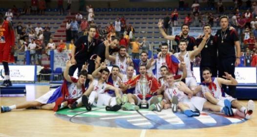 EVROPSKO PRVENSTVO ZA KOŠARKAŠE DO 20 GODINA: Srbija na tronu, Jaramaz junak finala