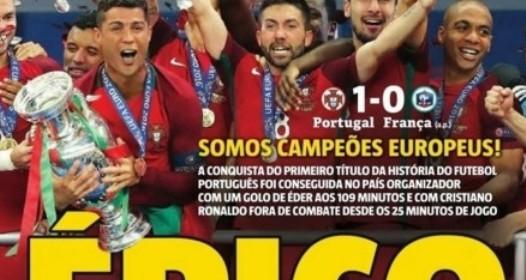 ZAVRŠENO FUDBALSKO PRVENSTVO EVROPE: Portugalija šampion, Francuzi pali u produžetku