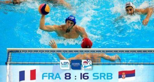 EVROPSKO PRVENSTVO U VATERPOLU: Srbija i pored opuštenije igre duplo bolja od Francuske