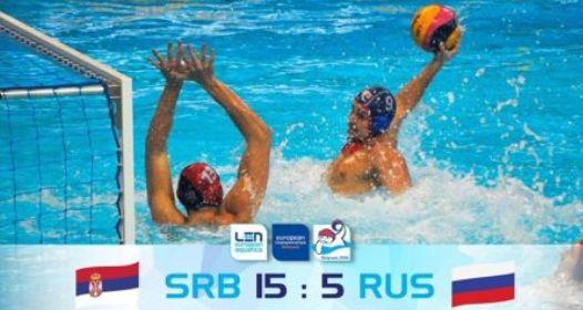EVROPSKO PRVENSTVO U VATERPOLU: Srbija ubedljiva protiv Rusije, Grčka rival u polufinalu