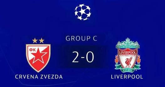 GRUPNA FAZA UEFA LIGE ŠAMPIONA - ČETVRTO KOLO: Podvig Zvezde, vicešampion Evrope Liverpul nokautiran u Beogradu