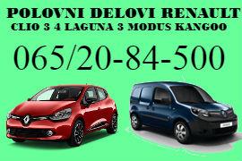POLOVNI DELOVI RENAULT CLIO 3 4 ŠABAC RENO LAGUNA 3 MODUS KANGOO BEOGRAD
