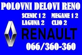 POLOVNI DELOVI RENO LAGUNA KRAGUJEVAC RENAULT CLIO MEGANE SCENIC BEOGRAD
