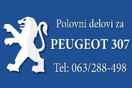 POLOVNI DELOVI PEŽO PEUGEOT 307 SMEDEREVO POŽAREVAC NOVI SAD BEOGRAD