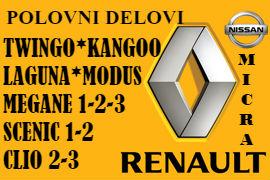 POLOVNI DELOVI RENO ŠABAC RENAULT MEGANE CLIO SCENIC TWINGO BEOGRAD