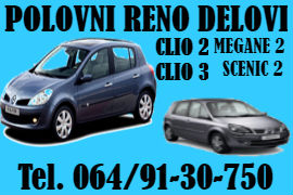 AUTO OTPAD SERVIS RENO NOVI SAD POLOVNI DELOVI RENAULT MEGAN SCENIC CLIO 2 3