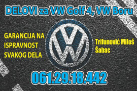 AUTO OTPAD VW ŠABAC POLOVNI DELOVI GOLF PASSAT BORA JETTA CADDY BEOGRAD