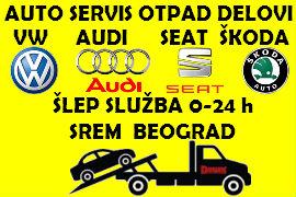 AUTO SERVIS OTPAD DELOVI VW AUDI SEAT ŠKODA ŠLEP SLUŽBA SREMSKA MITROVICA