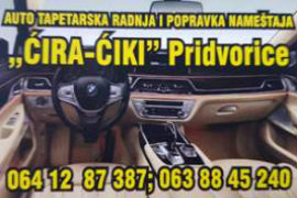 AUTO TAPETAR SMEDEREVSKA PALANKA TAPACIRANJE SEDIŠTA KRAGUJEVAC BEOGRAD