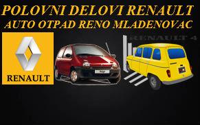 POLOVNI DELOVI RENAULT BEOGRAD AUTO OTPAD SERVIS RENO MLADENOVAC