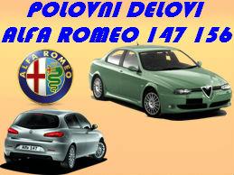 POLOVNI DELOVI ALFA ROMEO 147 NOVI SAD NIŠ ALFA 156 KRAGUJEVAC BEOGRAD