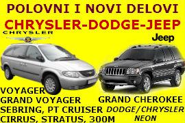 POLOVNI AUTO DELOVI CHRYSLER DODGE JEEP NOVI SAD BEOGRAD