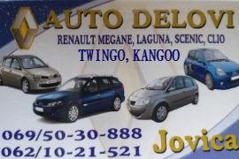AUTO OTPAD DCI RENO ŠABAC POLOVNI DELOVI RENAULT CLIO LAGUNA MEGAN KANGOO