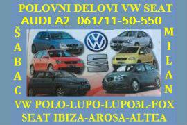 POLOVNI DELOVI VW POLO AUDI A2 SEAT IBIZA ŠABAC NOVI SAD BEOGRAD